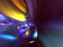 3D Abstracte Purpere Gele Blauwe Achtergrond van de Kleur Stock Afbeelding