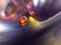 3D Abstracte Purpere Rode Oranje Glanzende Kleur geeft terug Stock Afbeeldingen