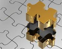 3d, abstracte puzzel Stock Foto's