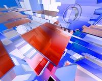 3d Abstracte Technologie geeft terug Vector Illustratie