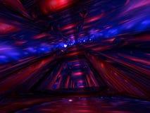3D abstraits rendent le fond bleu rouge de tube Image libre de droits