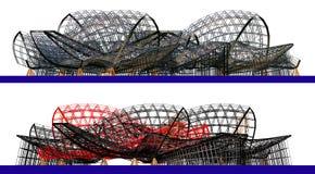 3d abstrakcjonistyczny architektoniczny skład fotografia stock