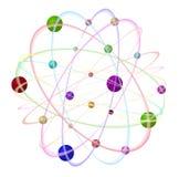 3d abstrakcjonistyczny atom Zdjęcia Royalty Free