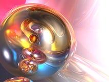 3d abstrakcjonistyczny kolorowy glansowany różowy błyszczący Zdjęcia Stock