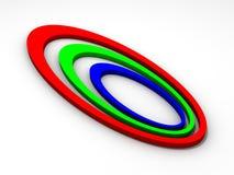 3d abstrakcjonistyczny logo Zdjęcia Royalty Free