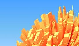 3d abstrakcjonistyczny miasto Obraz Royalty Free