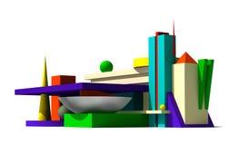 3d abstrakcjonistyczny model Obrazy Royalty Free
