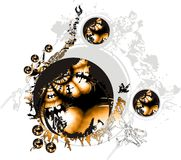 3d abstrakta projekt Obrazy Royalty Free
