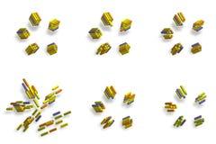 3d abstrakta sześcianu ilustracja Zdjęcie Stock