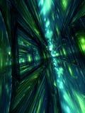 3D abstratos rendem o papel de parede verde do fundo Imagens de Stock