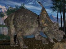 3d achelousaurus dinosaur ilustracji