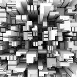 3d achtergrond die uit uitgedreven veelhoeken bestaat Stock Afbeeldingen