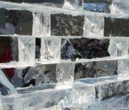 3d achtergrond van de de muurtextuur van het ijsblok Royalty-vrije Stock Afbeeldingen