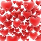 3d achtergrond van harten Stock Foto