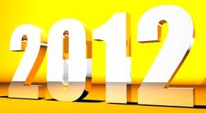 3D achtergrond van het Nieuwjaar 2012 Stock Afbeelding