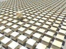 3D Achtergrond van Kubussen Stock Fotografie