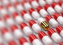 3d achtergrond van pillen Royalty-vrije Stock Afbeelding