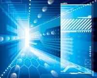 3D Achtergrond van Technologie Stock Afbeelding