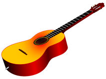 3d acoustic guitar. Against white background, vector art illustration Royalty Free Stock Photo