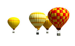 3d aerostats. 3d  isolated aerostats on the white background Royalty Free Stock Image