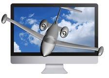 3D AFFICHAGE À CRISTAUX LIQUIDES TV Image stock