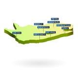 3d Africa miast mapy południe ilustracji