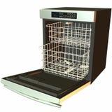 3D Afwasmachine - open Stock Fotografie