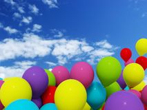 3d air baloon Stock Images