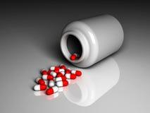 3D aisló la botella de píldoras Ilustración del Vector