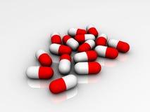 3D aisló píldoras Ilustración del Vector