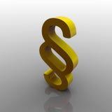 3d akapita kolor żółty Zdjęcia Royalty Free