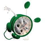 3D Alarm clock. 3d green Alarm clock, - isolated over a white background Royalty Free Stock Photography