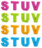 3d alfabet. Royalty-vrije Stock Fotografie