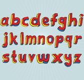 3D Alfabet In kleine letters van Grunge Royalty-vrije Stock Afbeeldingen