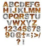 3d alfabet in stijl van een safari Royalty-vrije Stock Afbeelding