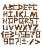 3d alfabet in stijl van een safari Royalty-vrije Stock Foto