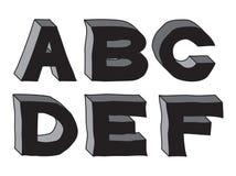 3d alfabet van steen (deel 1) Stock Foto's