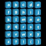 3D alfabetpictogrammen - in kleine letters Stock Afbeeldingen