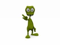 3D alien: no!. 3D alien cartoon style: no Stock Image