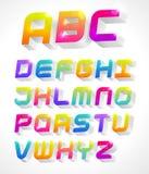 3d alphabet. Colorful 3d alphabet. Vector Illustration Stock Photos