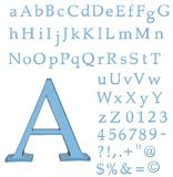 3D alphabet. With refraction isolated on white background Royalty Free Stock Photos