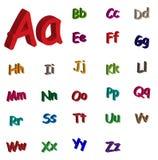 3d alphabet. Colorful 3d alphabet illustration isolated on white Royalty Free Stock Photo