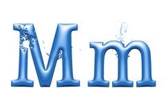Free 3d Alphabet, Metallic Blue Letter M, 3d Illustration Royalty Free Stock Photo - 180681015