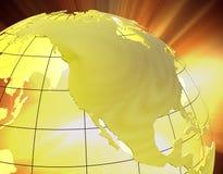 3D América no ouro Fotografia de Stock
