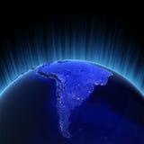 3d Amerika framför södra volym stock illustrationer