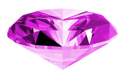 3d Amethyst Gem Isolated. A 3d illustration of a amethyst gem isolated on a white background Stock Images