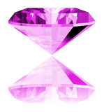 3d Amethyst Gem Isolated. A 3d illustration of a amethyst gem isolated on a white background Stock Image