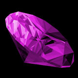 3d Amethyst Gem Isolated. A 3d illustration of a amethyst gem isolated on a black background Stock Image