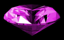 3d Amethyst Gem Isolated. A 3d illustration of a amethyst gem isolated on a black background Royalty Free Stock Images