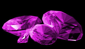 3d Amethyst Gem Isolated Stock Photos